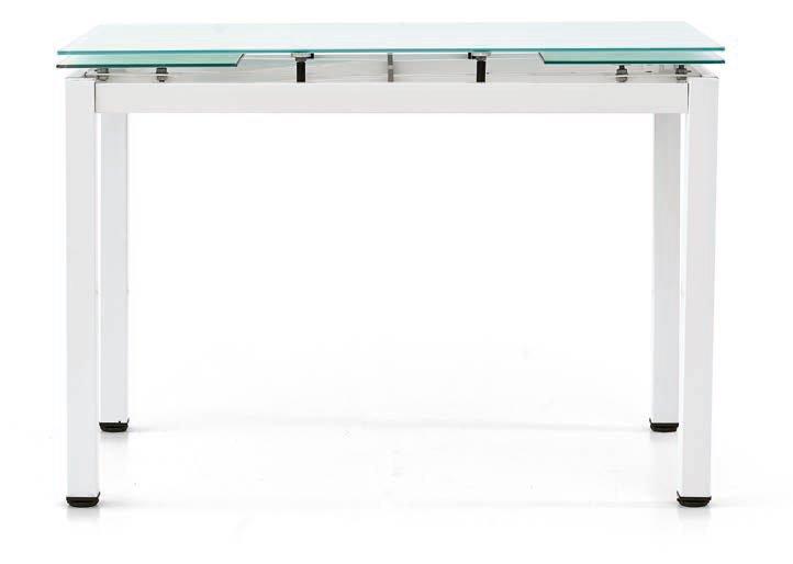 tavolo bianco con piano in vetro mobilificio torino e rivoli