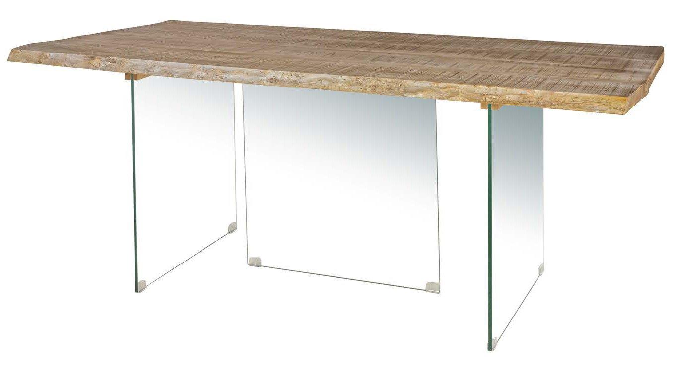 tavolo Top in Frassino Bianco Gambe in vetro mobilificio torino e rivoli
