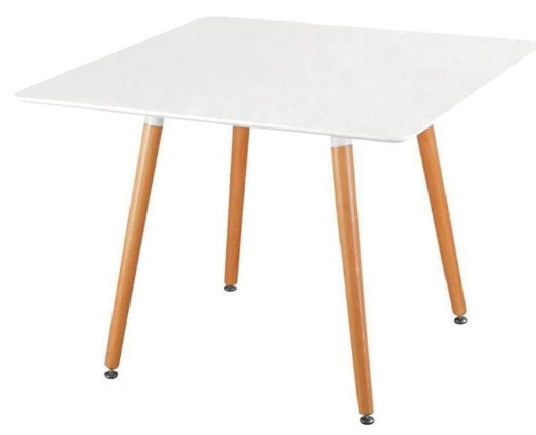 tavolino bianco quadrato gambe legno mobilificio torino e rivoli