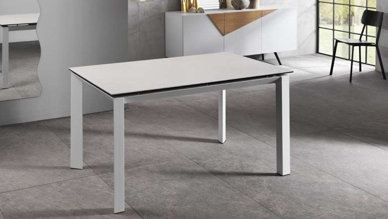 tavolo allungabile in ceramica bianca mobilificio torino e rivoli