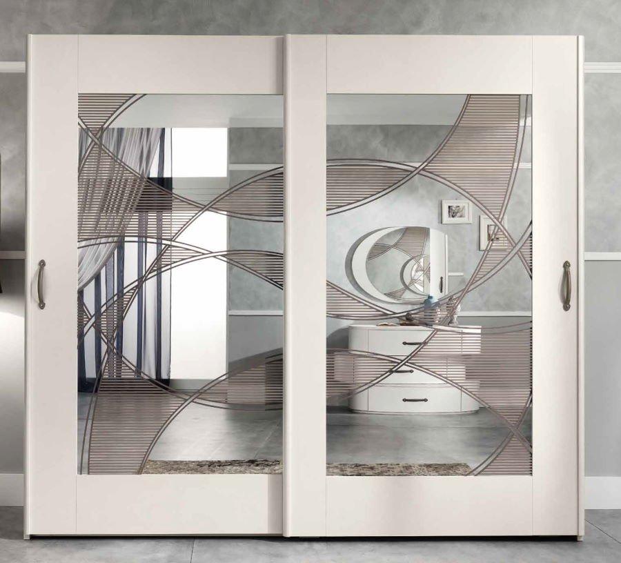 armadio beige 2 ante scorrevoli con specchi mobilificio torino e rivoli