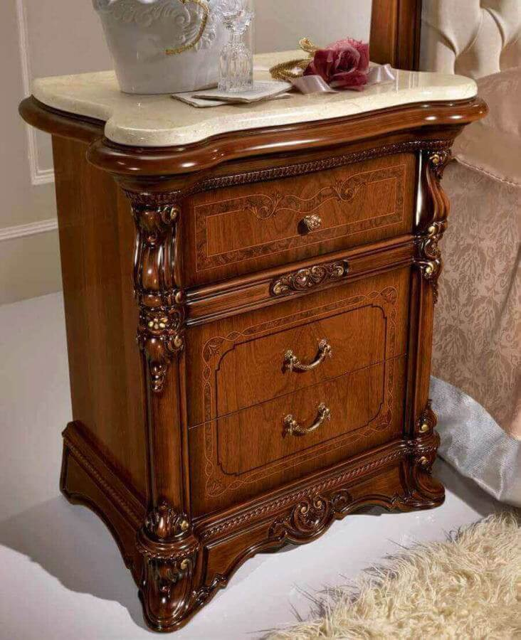 comodino piano in marmo 3 cassetti mobilificio torino e rivoli