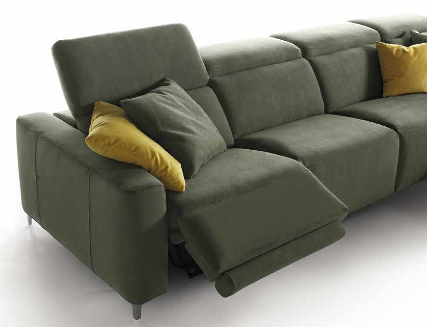 divano verde con movimento relax mobilificio torino e rivoli