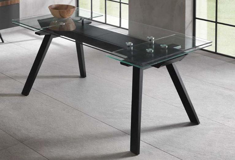 tavolo allungabile top in vetro mobilificio torino e rivoli