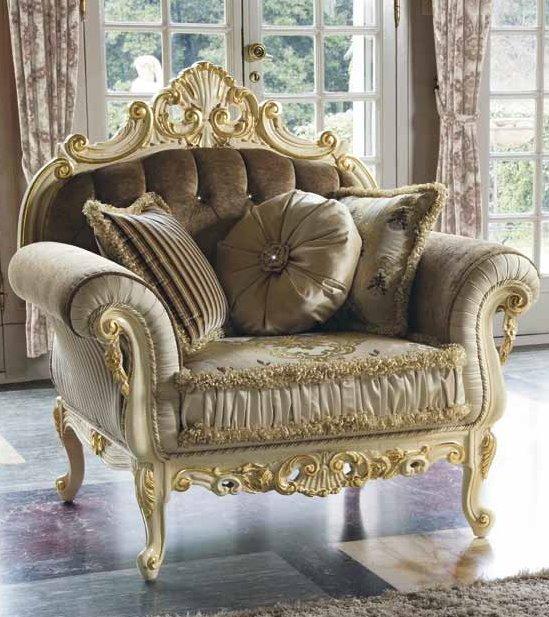 poltrona in seta e velluto beige mobilificio torino e rivoli