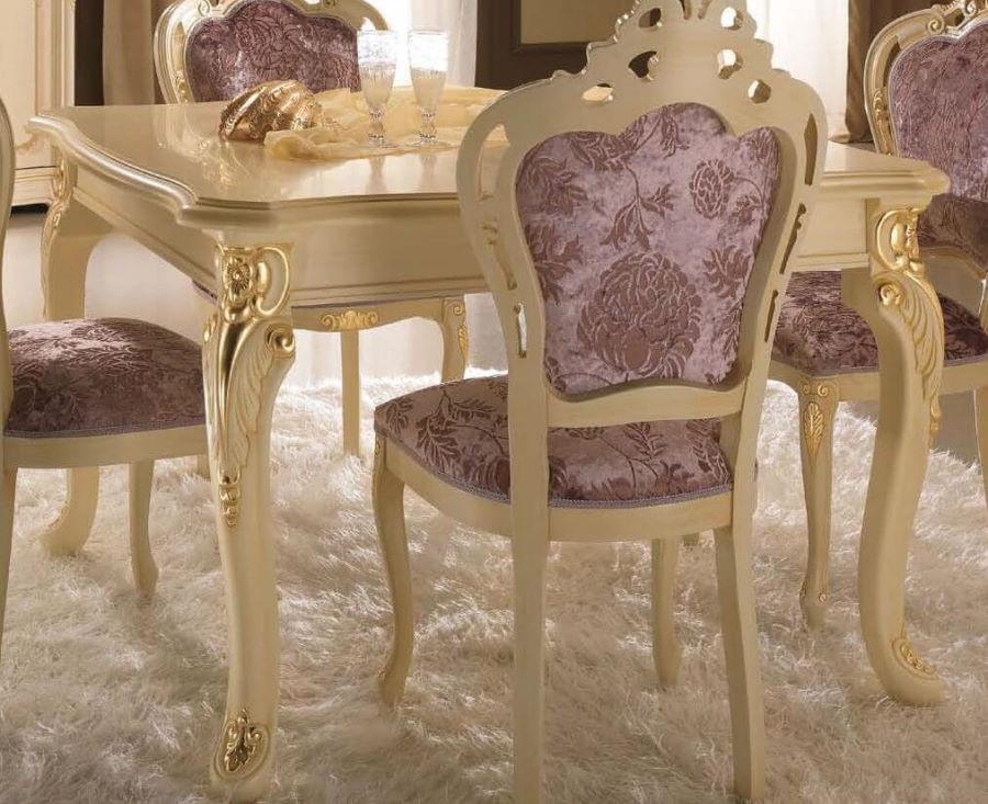 tavolo quadrato allungabile intarsiato mobilificio torino e rivoli