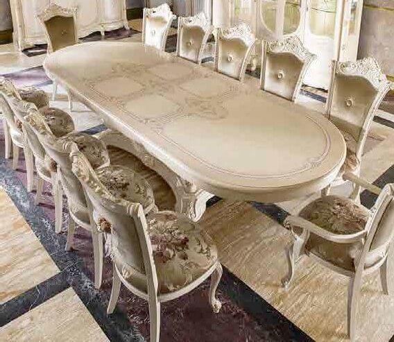 tavolo ovale allungabile beige mobilificio torino e rivoli