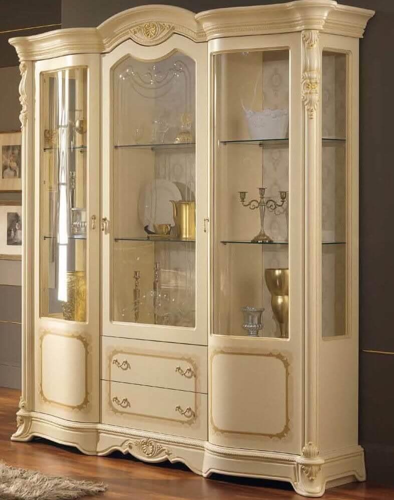 vetrina beige 3 porte 2 cassetti mobilificio torino e rivoli