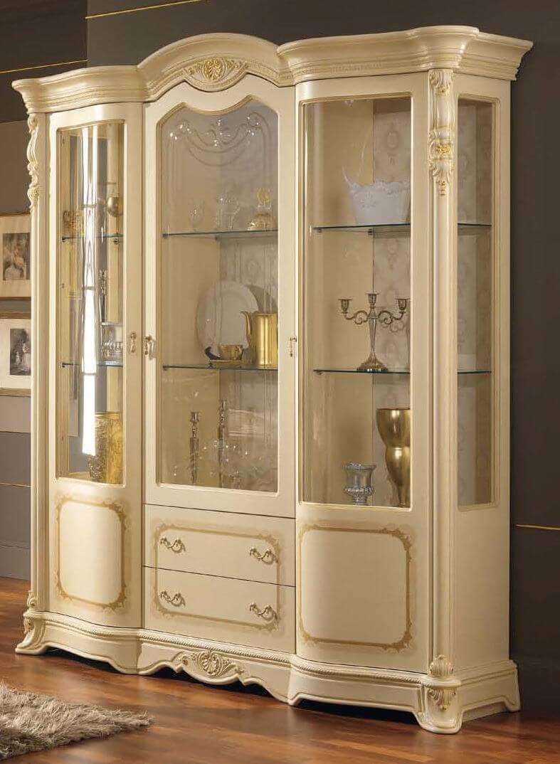 vetrina 3 porte beige mobilificio torino
