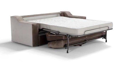divano letto marrone con letto estratto mobilficio torino e rivoli