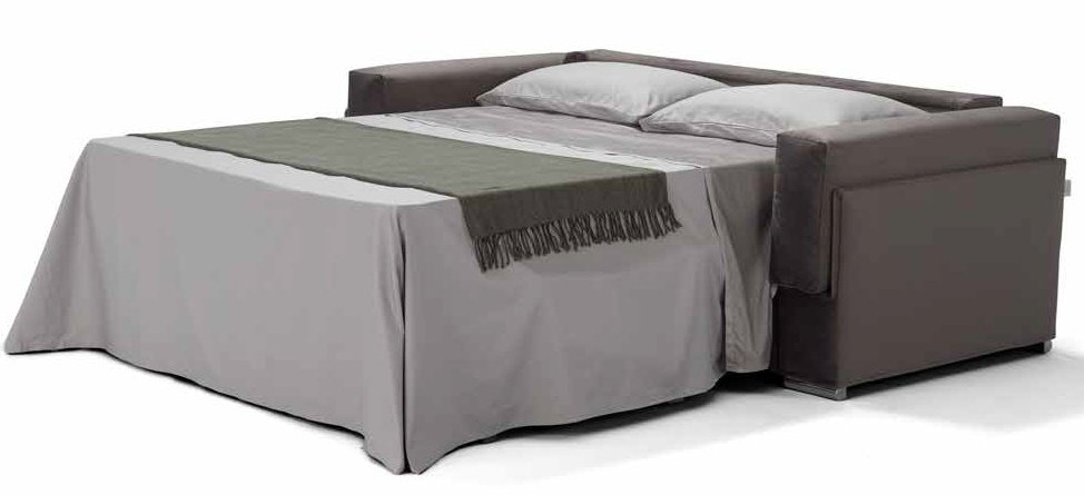 divano letto marrone 3 posti aperto mobilificio torino e rivoli