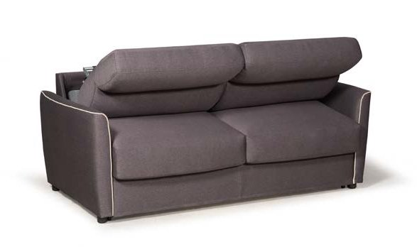 divano letto grigio marrone semiaperto mobilificio torino e rivoli