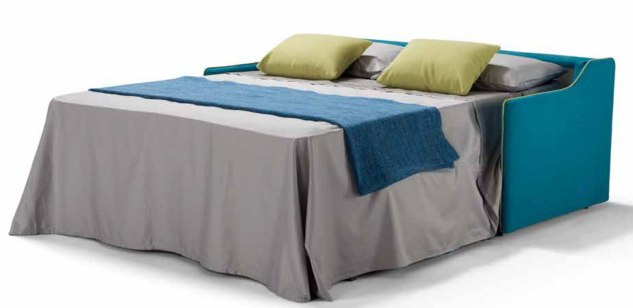 divano letto blu aperto mobilificio torino e rivoli