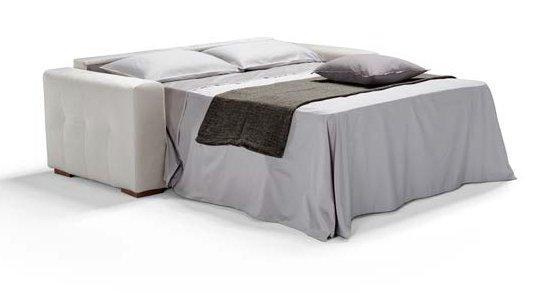 divano letto bianco 3 posti con letto completamente estratto mobilificio torino e rivoli