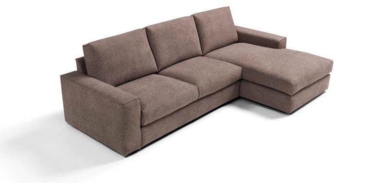 divano 3 posti marrone con penisola mobilificio torino e rivoli