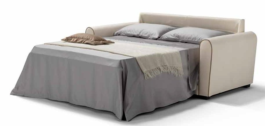 divano letto bianco 3 posti aperto mobilificio torino e rivoli