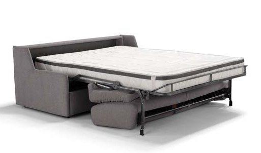 divano letto grigio chiaro con letto estratto mobilificio torino e rivoli