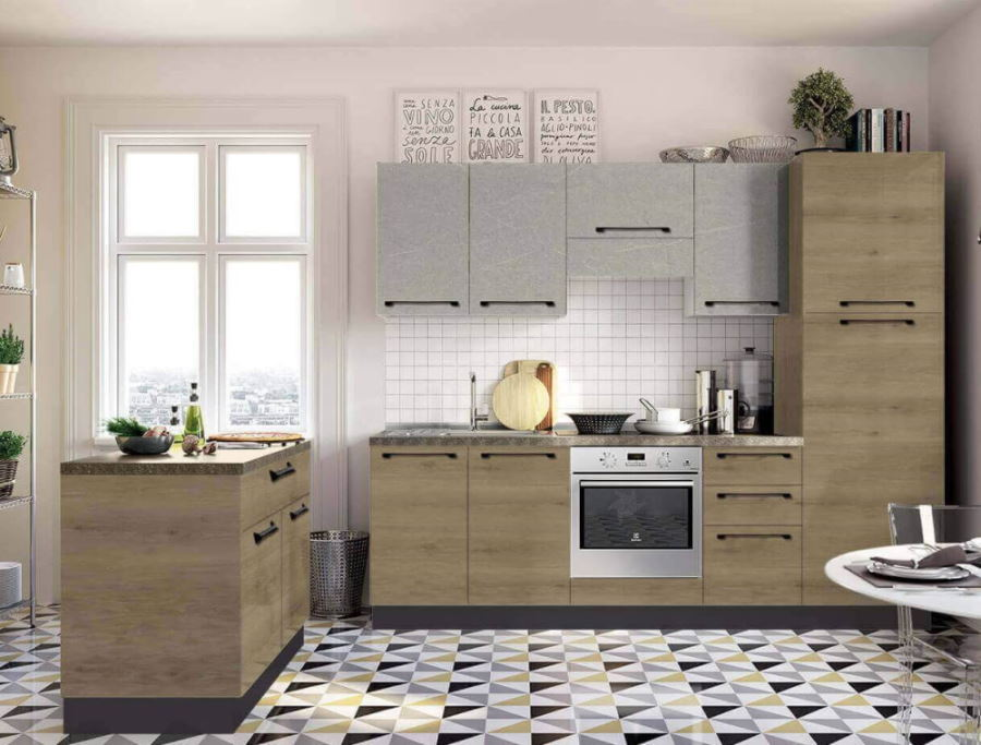 cucina moderna ante in quercia mobilificio torino e rivoli