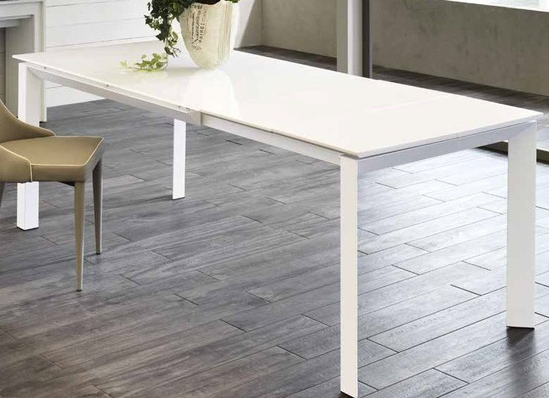 tavolo bianco moderno allungato mobilificio torino e rivoli