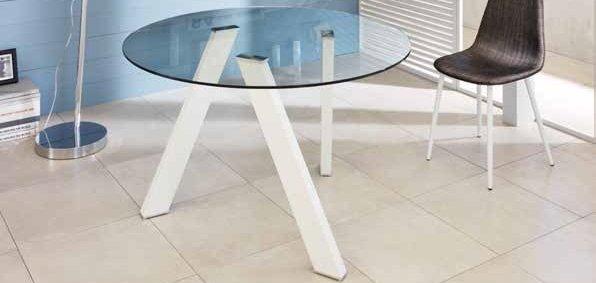 tavolo rotondo con gambe bianche mobilificio torino e rivoli