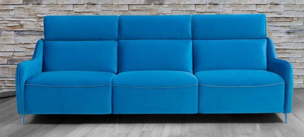 divano relax assago blu mobilificio torino e rivoli