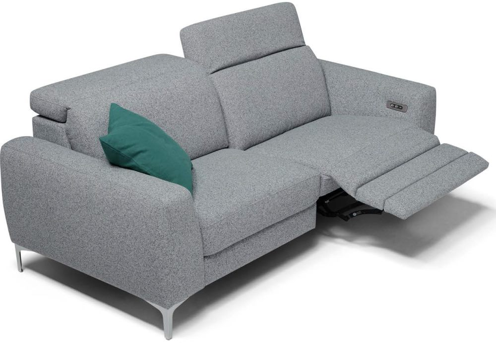 divano miriam grigio con poggiapiedi alzato mobilificio torino e rivoli