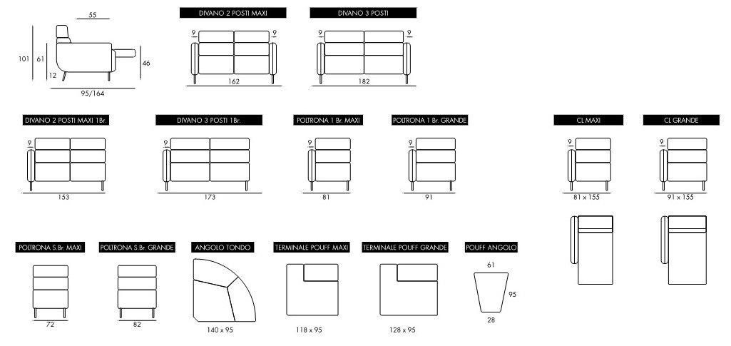 misure divano assago mobilificio torino e rivoli