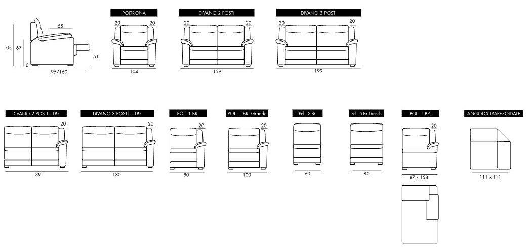 misure divano italo mobilificio torino e rivoli