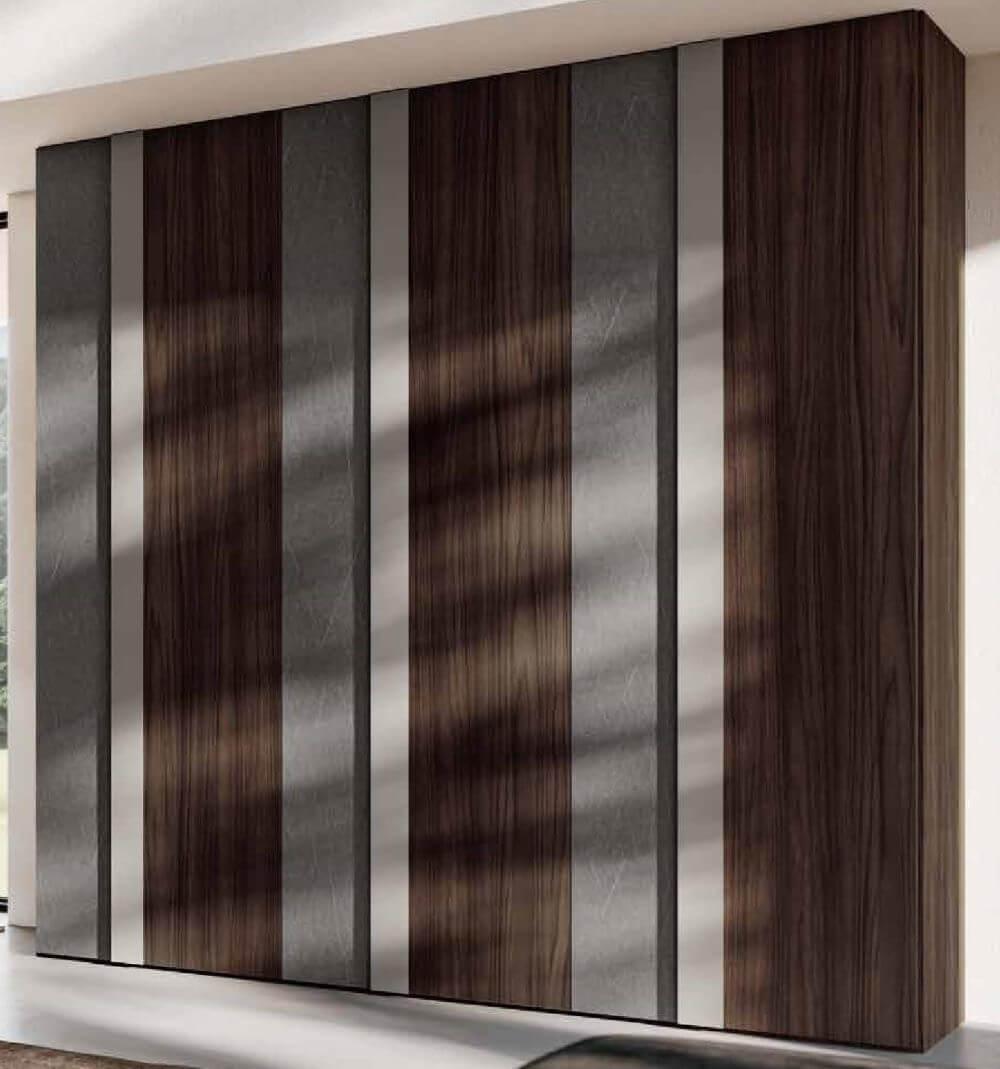armadio 2 ante battenti graniglia, grigio e noce mobilificio torino e rivoli
