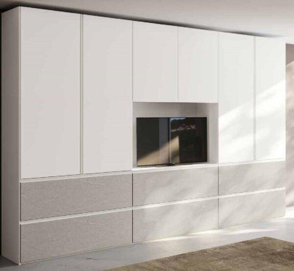 armadio 2 ante battenti bianco e graniglia mobilificio torino e rivoli