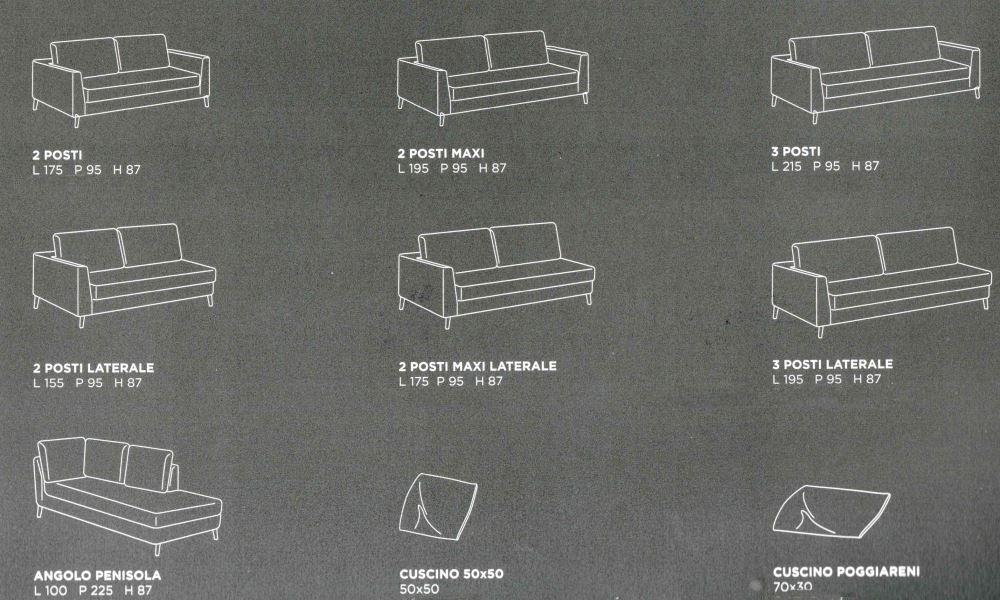 misure divano still mobilificio torino e rivoli