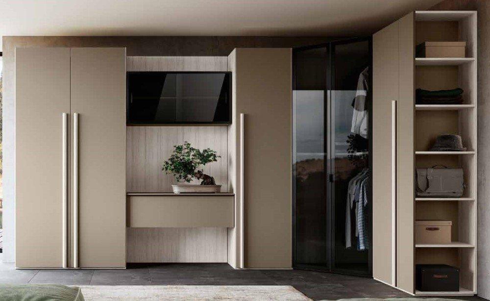 armadio ante battenti bianco e visone mobilificio torino e rivoli