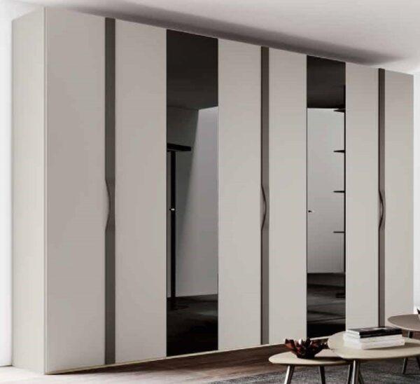 armadio ante battenti grigio e bianco mobilificio torino e rivoli
