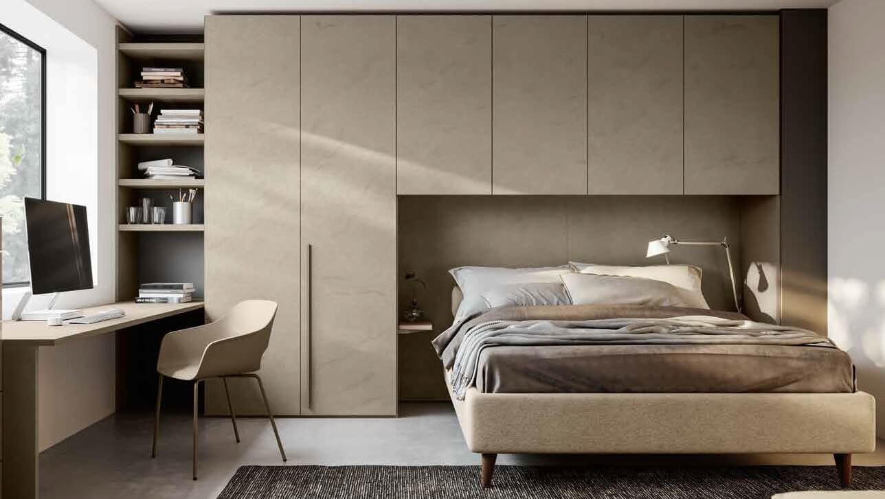 armadio con scrivania argilla mobilificio torino e rivoli