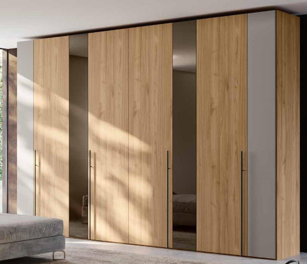 armadio 4 ante battenti noce e grigio mobilificio torino e rivoli