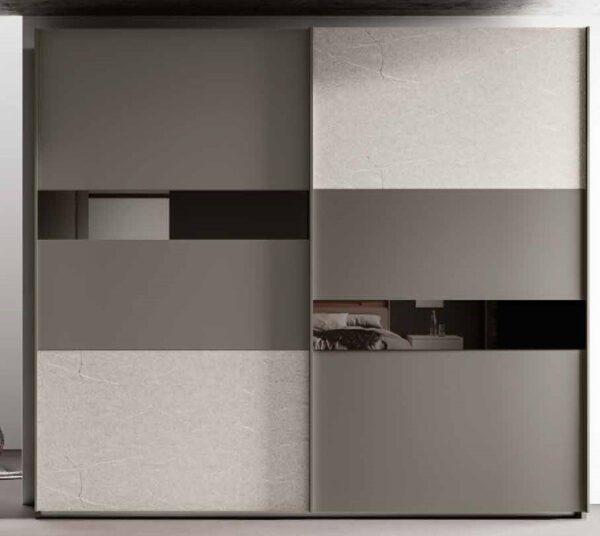 armadio ante scorrevoli grigio e graniglia mobilificio torino e rivoli
