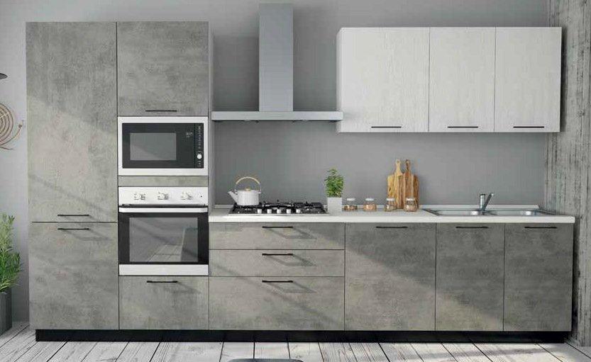 cucina con colonna forno e frigo, base e pensili mobilificio torino e rivoli