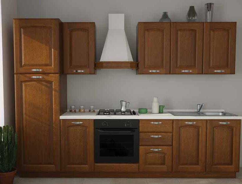 cucina classica con colonna forno, frogo, base pensili ed elettrodomestici mobilificio torino e rivoli
