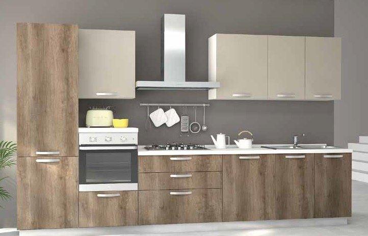 cucina con colonna frigo e colonna forno mobilificio torino e rivoli
