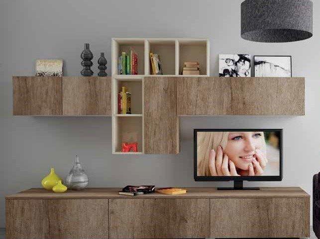 composizione soggiorno con base e pensili mobilificio torino e rivoli