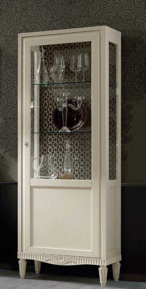 vetrina beige 1 porta 3 ripiani mobilificio torino e rivoli