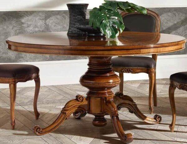 tavolo rotondo con gamba centrale mobilificio torino e rivoli
