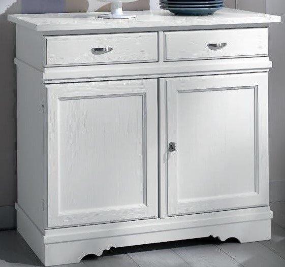 credenza con 2 porte e cassetti bianca mobilificio torino e rivoli