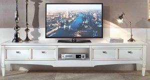 porta tv bianco con 2 cassetti e ripiano mobilificio torino e rivoli